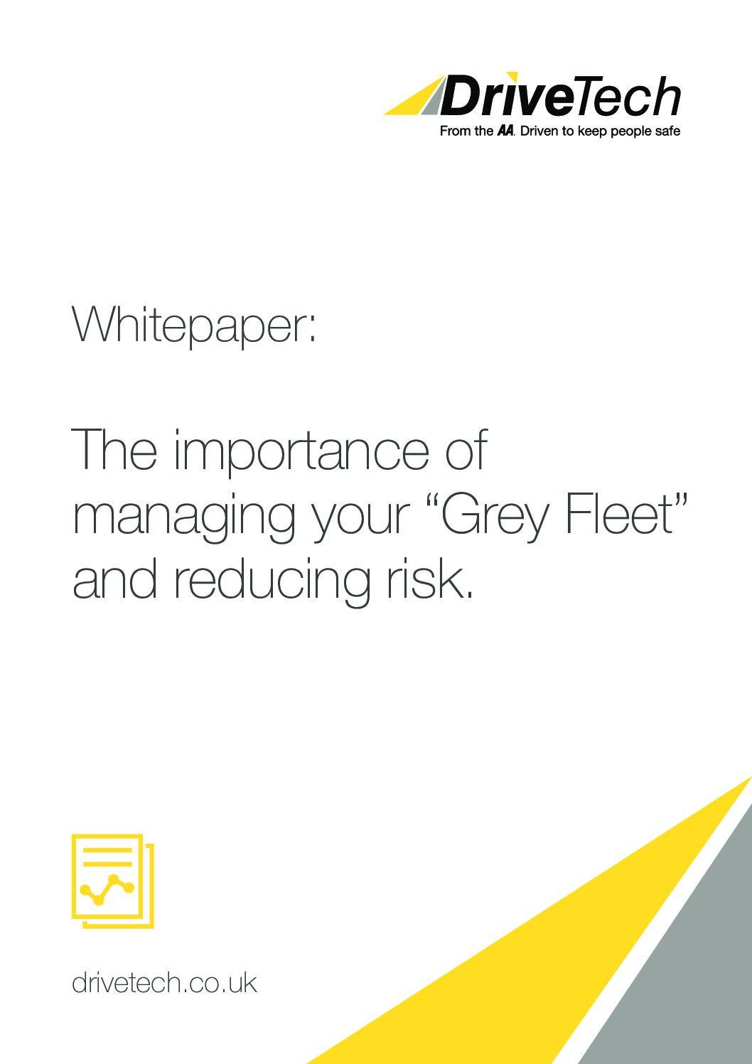 Whitepaper – Managing Your Grey Fleet & Reducing Risk