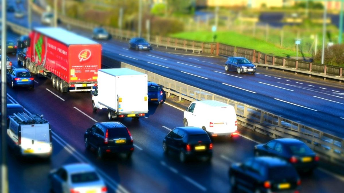 Vehicles on motorway including greyfleet