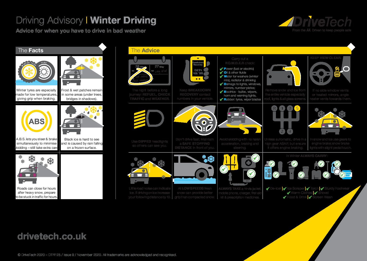 Driving Advisory | Winter Driving