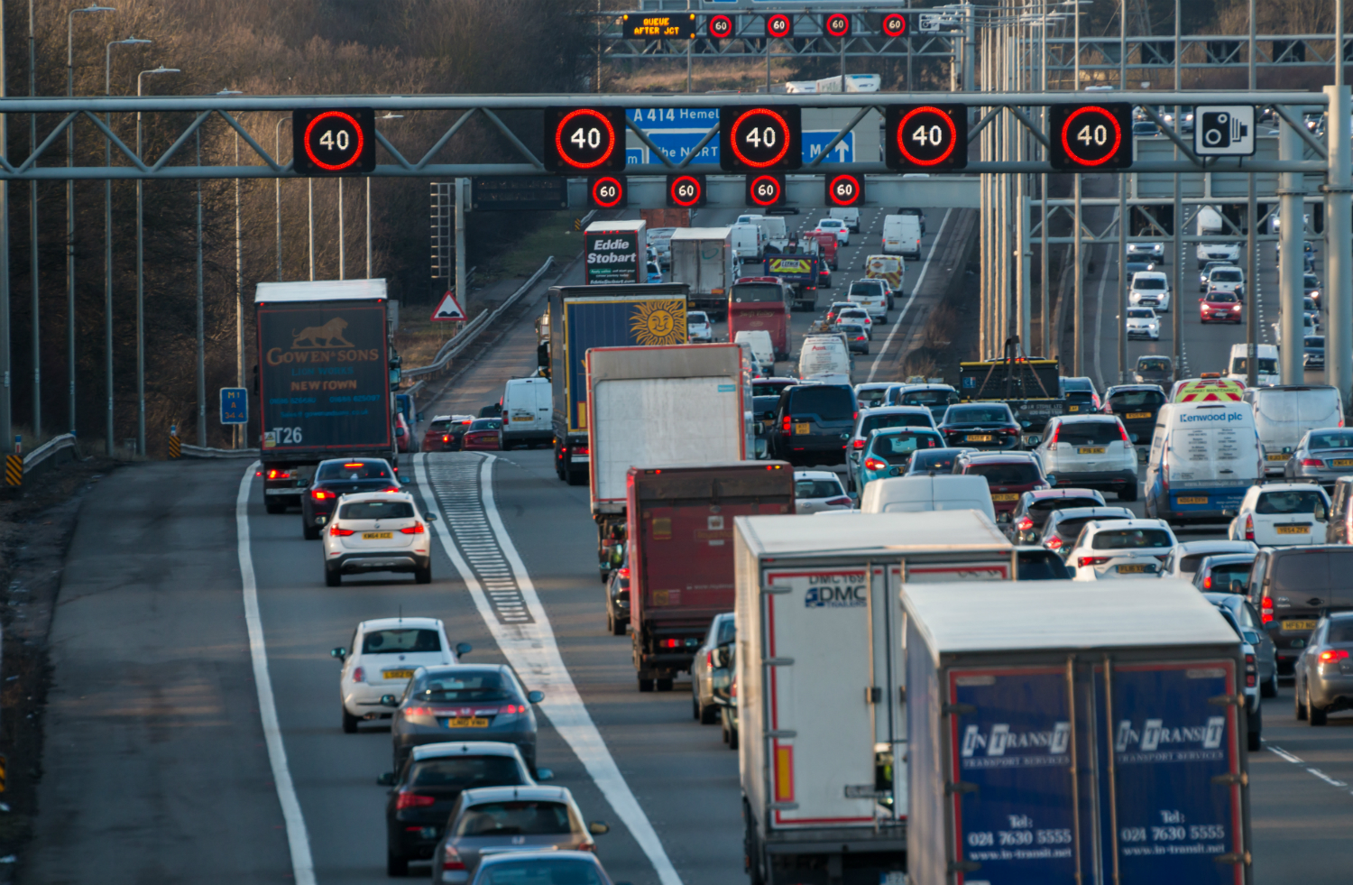 Motorway image - heavy traffic needs roads policing