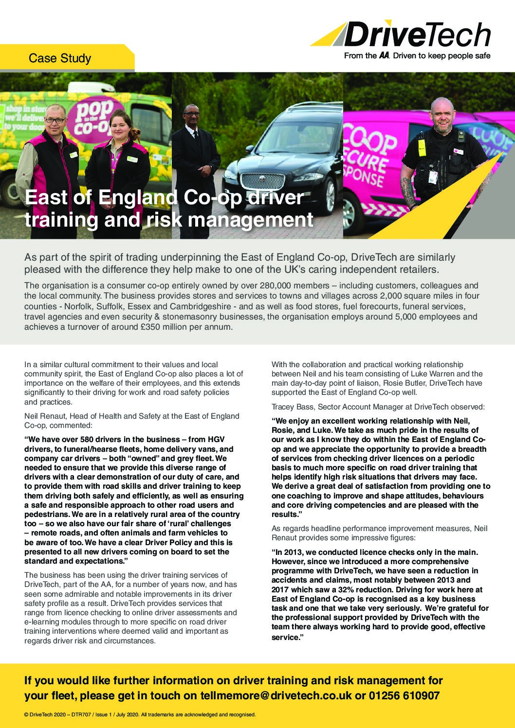 East of England Co-op Case Study – Driver Training & Risk Management