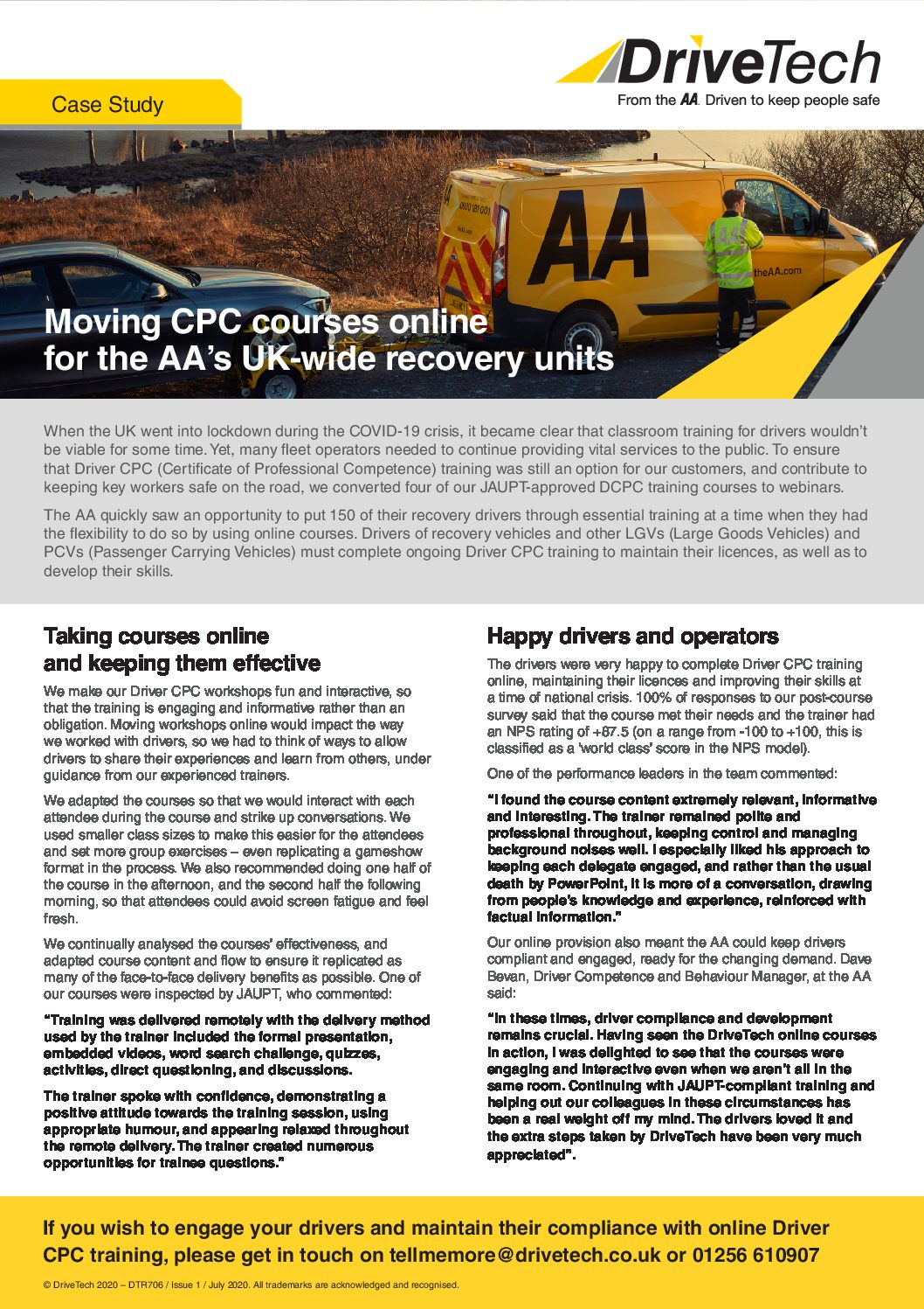 The AA Case Study – Online CPC Courses