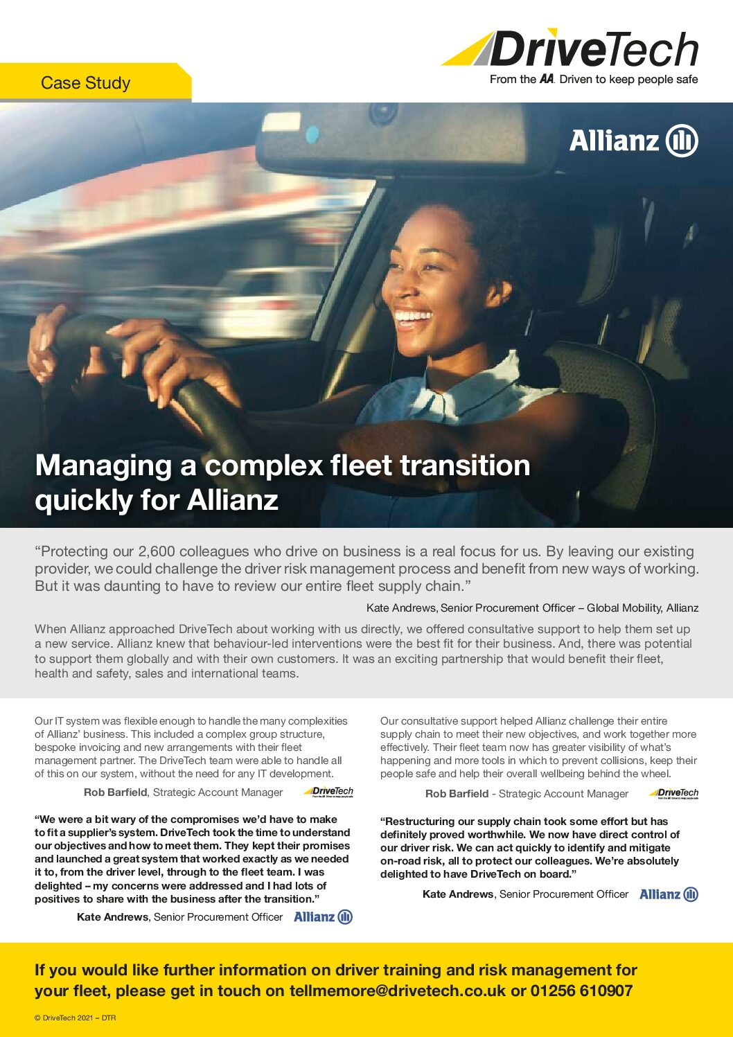 Allianz Case Study – Managing a Complex Fleet Transition for Allianz